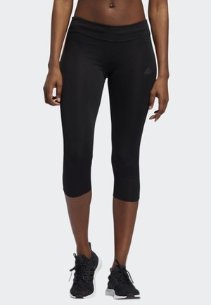 OWN THE RUN 3/4 LEGGINGS - Leggings - black