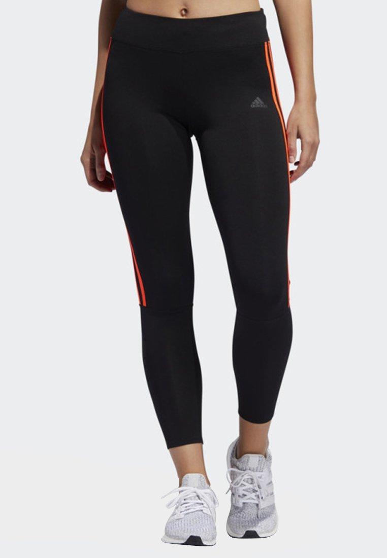 adidas Performance - RUNNING 3-STRIPES LEGGINGS - Tights - black