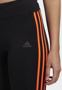 adidas Performance - RUNNING 3-STRIPES LEGGINGS - Tights - black - 3