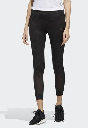 OWN THE RUN 7/8 GRAPHIC LEGGINGS - Collants - black