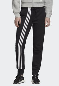 adidas Performance - MUST HAVES 3-STRIPES JOGGERS - Tracksuit bottoms - black - 0