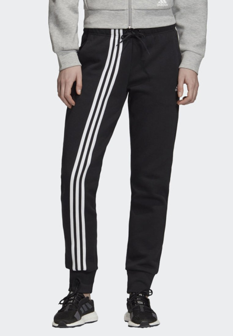 adidas Performance - MUST HAVES 3-STRIPES JOGGERS - Tracksuit bottoms - black