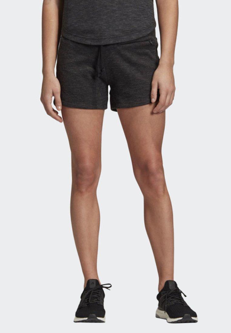 adidas Performance - ID MÉLANGE SHORTS - kurze Sporthose - black