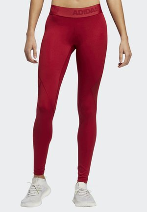 ALPHASKIN SPORT LONG LEGGINGS - Tights - red