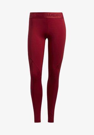 ALPHASKIN SPORT LONG LEGGINGS - Leggings - red
