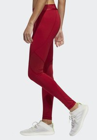 adidas Performance - ALPHASKIN SPORT LONG LEGGINGS - Collants - red - 2