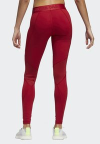 adidas Performance - ALPHASKIN SPORT LONG LEGGINGS - Collants - red - 1
