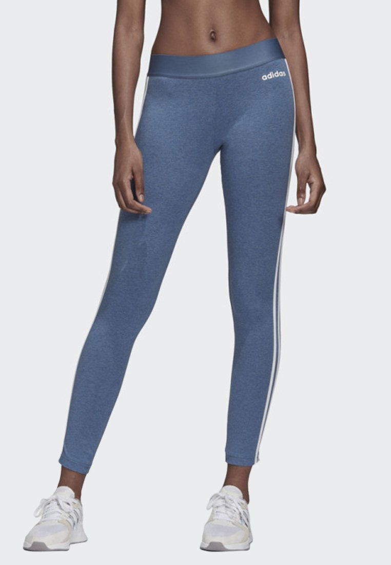 adidas Performance - ESSENTIALS 3-STRIPES LEGGINGS - Leggings - blue