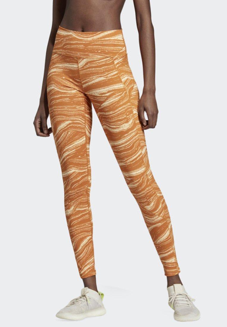 adidas Performance - BELIEVE THIS WANDERLUST LEGGINGS - Medias - orange