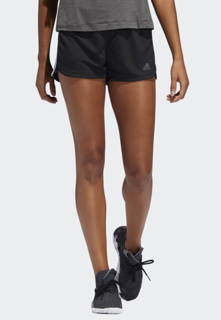 adidas Performance - PACER 3-STRIPES KNIT SHORTS - kurze Sporthose - black
