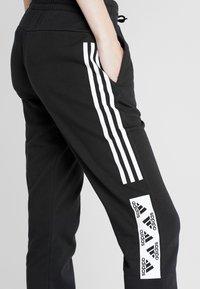 adidas Performance - BLOCK PANT - Teplákové kalhoty - black - 4