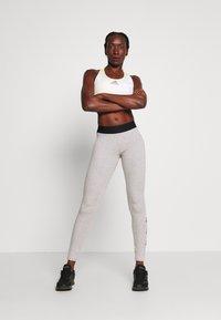 adidas Performance - ESSENTIALS SPORT INSPIRED COTTON LEGGINGS - Legginsy - grey/black - 1