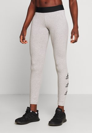 ESSENTIALS SPORT INSPIRED COTTON LEGGINGS - Medias - grey/black
