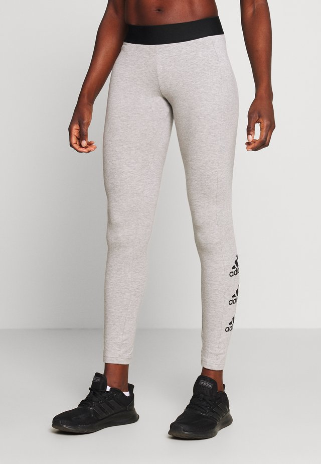 ESSENTIALS SPORT INSPIRED COTTON LEGGINGS - Tights - grey/black