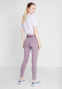 adidas Performance - ESSENTIALS SPORT INSPIRED COTTON LEGGINGS - Tights - purple - 2