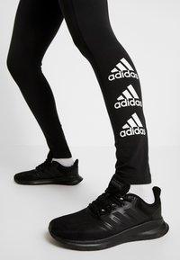 adidas Performance - ESSENTIALS SPORT INSPIRED COTTON LEGGINGS - Tights - black/white - 3