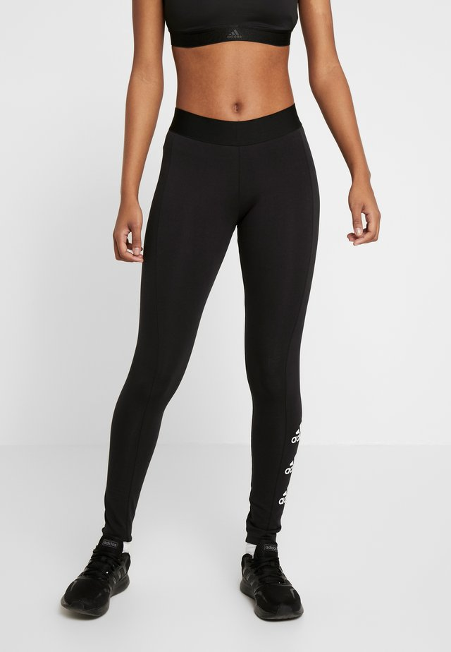 ESSENTIALS SPORT INSPIRED COTTON LEGGINGS - Collant - black/white