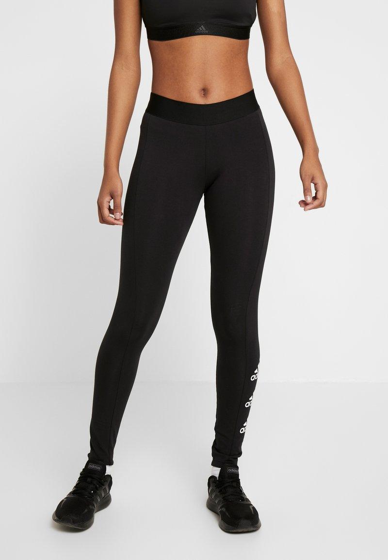 adidas Performance - ESSENTIALS SPORT INSPIRED COTTON LEGGINGS - Tights - black/white