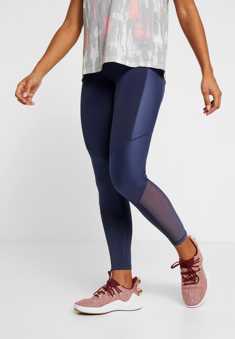 adidas Performance - SHINE - Tights - tech indigo