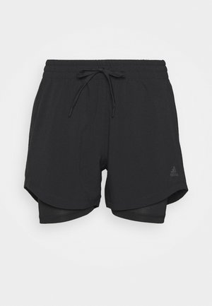 SHORT 2IN1 - Sports shorts - black