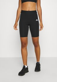 adidas Performance - SHORTS - Leggings - black/white - 0