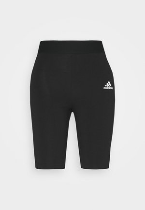 SHORTS - Leggings - black/white