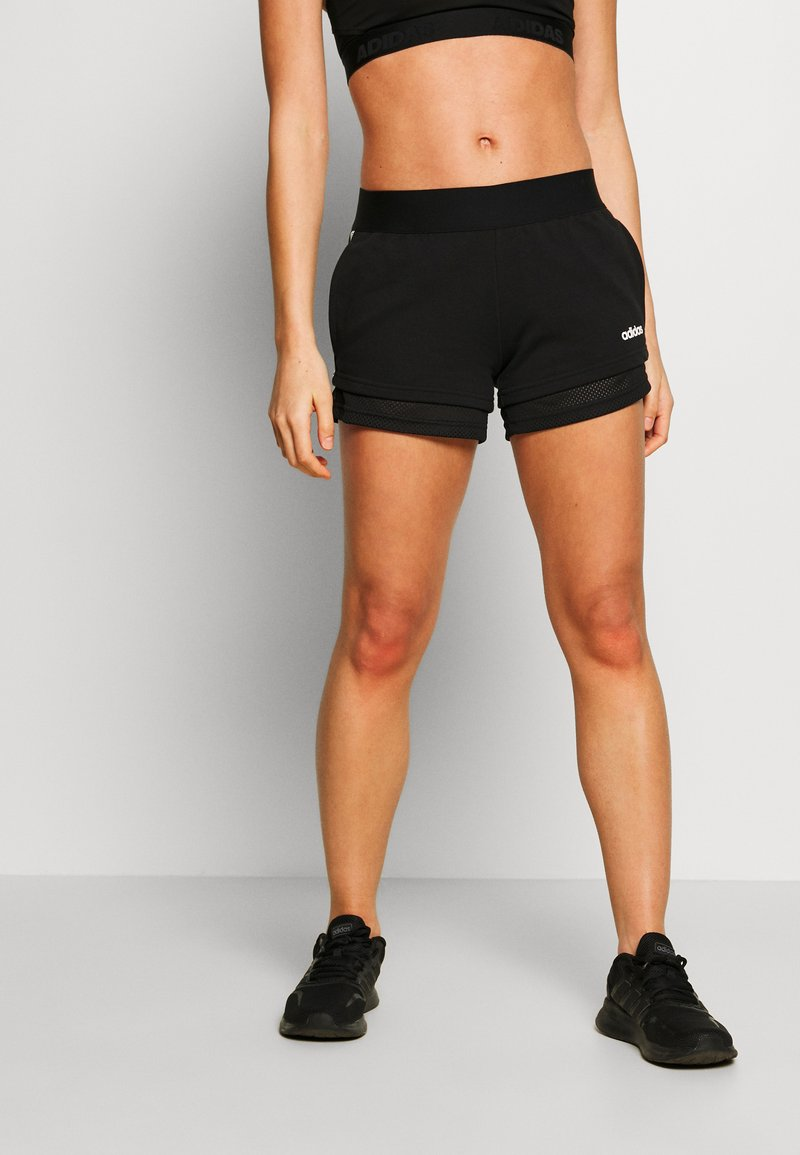 adidas Performance - SHORTS - Sports shorts - black/white