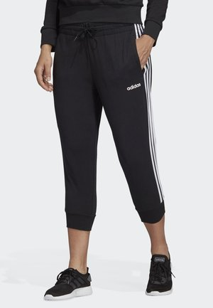 ESSENTIALS 3-STRIPES 3/4 JOGGERS - Tracksuit bottoms - black