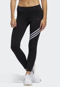 adidas Performance - RUN IT 3-STRIPES 7/8 LEGGINGS - Leggings - black - 0