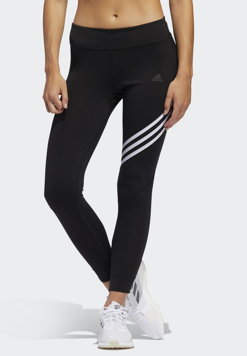 adidas Performance - RUN IT 3-STRIPES 7/8 LEGGINGS - Leggings - black