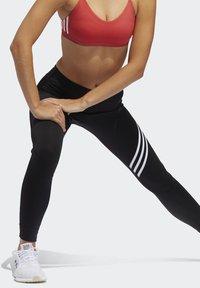 adidas Performance - RUN IT 3-STRIPES 7/8 LEGGINGS - Leggings - black - 3