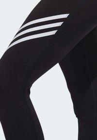 adidas Performance - RUN IT 3-STRIPES 7/8 LEGGINGS - Leggings - black - 6
