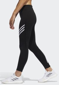 adidas Performance - RUN IT 3-STRIPES 7/8 LEGGINGS - Leggings - black - 2