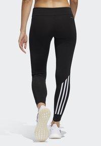 adidas Performance - RUN IT 3-STRIPES 7/8 LEGGINGS - Leggings - black - 1