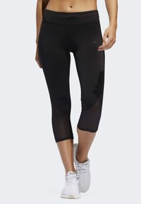 adidas Performance - OWN THE RUN 3/4 LEGGINGS - 3/4 sports trousers - black - 0