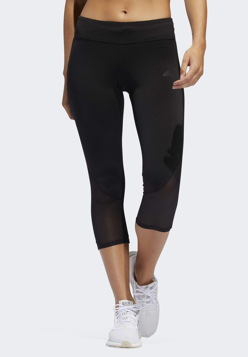 adidas Performance - OWN THE RUN 3/4 LEGGINGS - 3/4 sports trousers - black