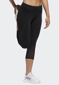 adidas Performance - OWN THE RUN 3/4 LEGGINGS - 3/4 sports trousers - black - 3