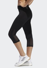 adidas Performance - OWN THE RUN 3/4 LEGGINGS - 3/4 sports trousers - black - 2
