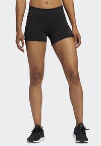 adidas Performance - OWN THE RUN SHORT TIGHTS - Sports shorts - black - 0