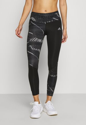 OWN THE RUN - Tights - grey/black