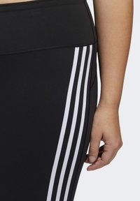 adidas Performance - BELIEVE THIS 3-STRIPES 7/8 LEGGINGS - Tights - black/white - 6