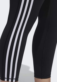 adidas Performance - BELIEVE THIS 3-STRIPES 7/8 LEGGINGS - Tights - black/white - 5