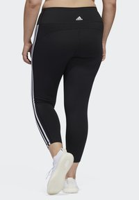 adidas Performance - BELIEVE THIS 3-STRIPES 7/8 LEGGINGS - Tights - black/white - 2