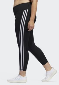 adidas Performance - BELIEVE THIS 3-STRIPES 7/8 LEGGINGS - Tights - black/white - 3