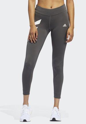 OWN THE RUN 3-STRIPES FAST LEGGINGS - Tights - grey