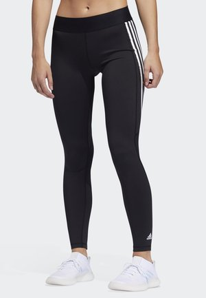 ALPHASKIN 3-STRIPES LONG LEGGINGS - Leggings - black