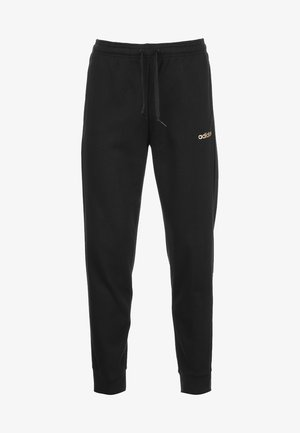 Tracksuit bottoms - black / copper metallic
