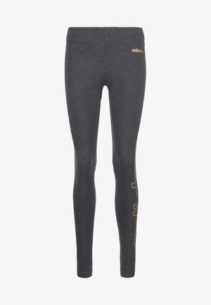 Tights - dark grey heather/copper metallic