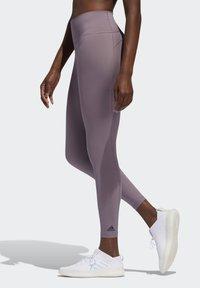 adidas Performance - BELIEVE THIS 7/8 LEGGINGS - Tights - legacy purple - 2