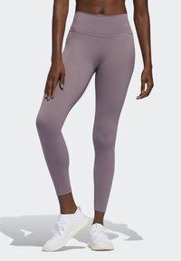 adidas Performance - BELIEVE THIS 7/8 LEGGINGS - Tights - legacy purple - 0